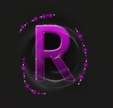 紫色流金字体