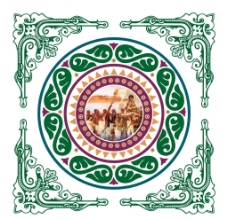 古典花纹 圆形花纹 古罗马图片
