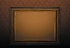木纹相框矢量素材图片