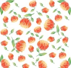 红花绿叶梦幻花纹 时尚花纹图片