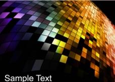 动感炫彩方块图片