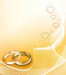 婚礼贺卡矢量素材图片