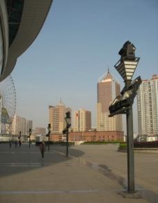 黄昏长沙贺龙广场图片