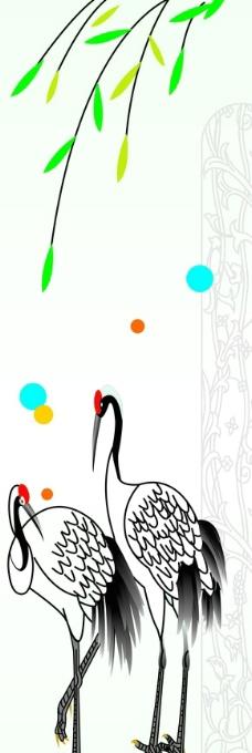 电脑壁纸   手绘仙鹤
