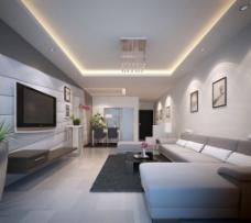 简约型客厅效果图图片