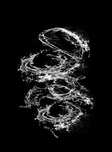 分层水花图片