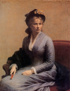 女士肖像图片