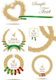 麦穗标签丝带图片