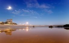 蓝天 白云 湖泊图片