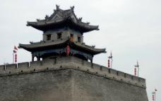 西安古城墙角楼图片