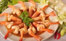 蒜蓉蒸虾图片