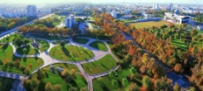 高空拍摄的城市图片