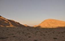西北落日风景图片