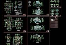 全套别墅建筑施工图图片