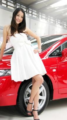 西安车展美女车模图片