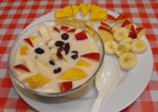 水果浓汤图片