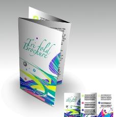 动感线条企业折页册子图片