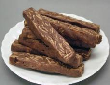 日式 巧克力 杏仁 餅条图片