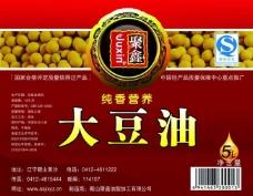 豆油标签图片