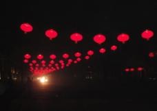 黑暗中的红灯笼图片