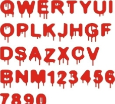 矢量艺术字 字母 矢量素材图片