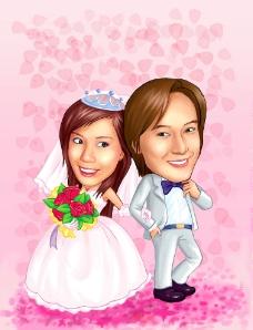 婚礼漫画图片