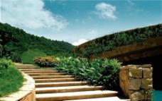 通往山顶的楼梯图片