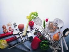 餐具水果蔬菜图片
