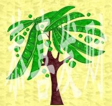 油画 豌豆树图片