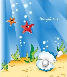 动感光线海底世界图片