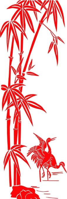 竹子高清剪纸素材
