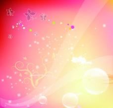 炫彩蝴蝶底纹背景图片