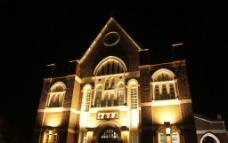 台湾屏东教会 夜景图片