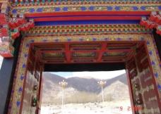藏式大门图片