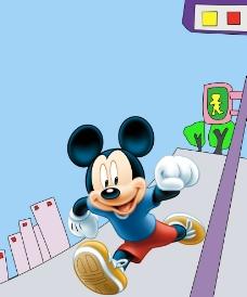 米老鼠跑步图片