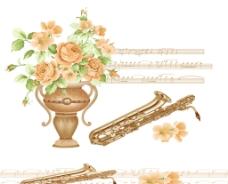 音乐之花图片