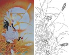 仙鹤原图图片