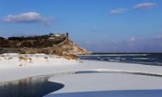 雪后的蓬莱阁图片