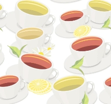 菊花茶水果背景底纹图片