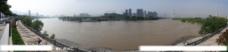 兰州黄河银滩大桥东侧南眺全景图图片