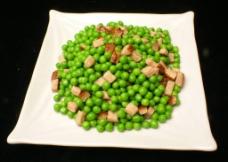 绿豆炒腊肉图片