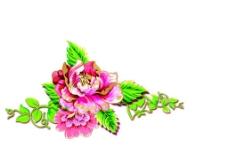 月饼花卉 分层花卉图片