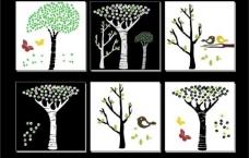 树矢量图无框画图片