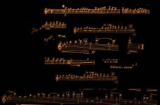 乐谱五线谱音符笔刷