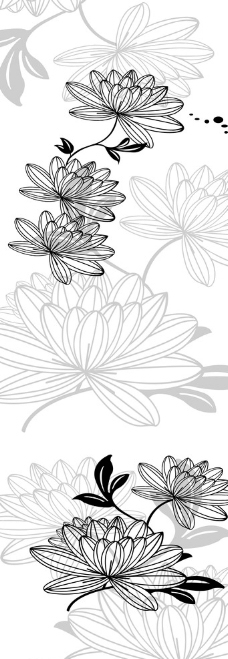 移门花纹图片,木纹 线条 百合 牡丹 暗花-图行天下图库