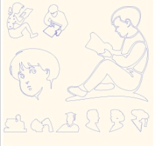 手绘人物图片