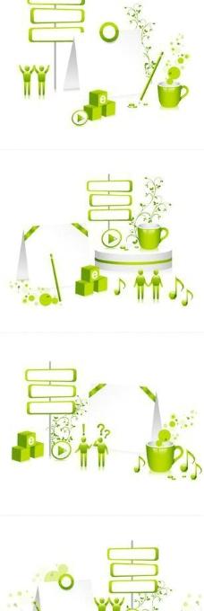 展会 展览 销售 绿色 小人图片