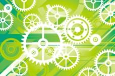 动感线条齿轮商务科技背景图片