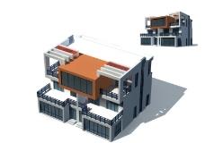 室外建筑别墅MAX MAP图片