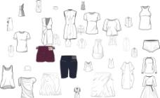 服装款式模形图片